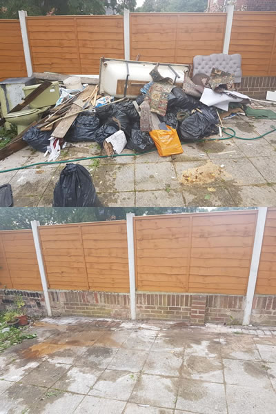 Before and After a house clearance in Sheffield