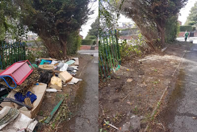 One of our many land clearances in Sheffield