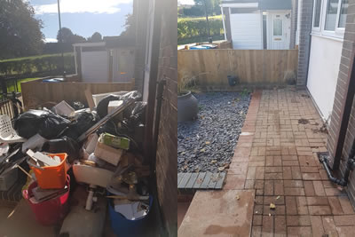 Before and After Garden Waste Removal